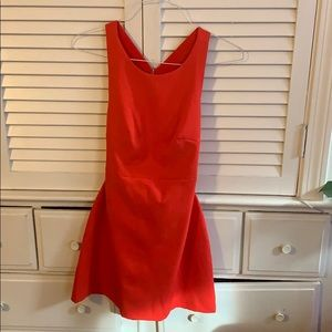 Zara tomato red mini dress